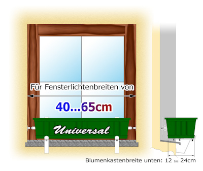 vario fix blumenkastenhalter vfu1240 auf fensterb nke. Black Bedroom Furniture Sets. Home Design Ideas