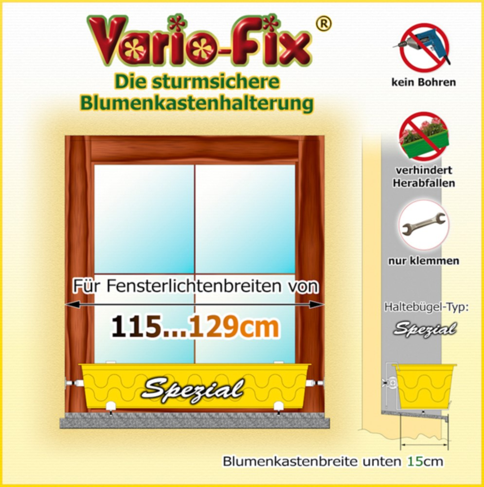 vario fix spezial 1 paar hb 15cm flb 115 129cm. Black Bedroom Furniture Sets. Home Design Ideas